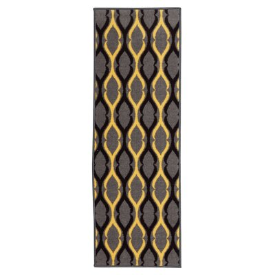 Anne Moroccan Trellis Gray/Yellow Area Rug