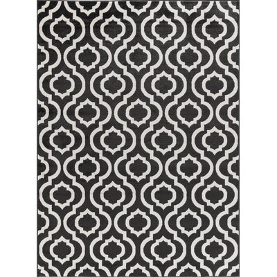 Tuscola Trellis Charcoal Area Rug Rug Size: Rectangle 53 W x 73 L