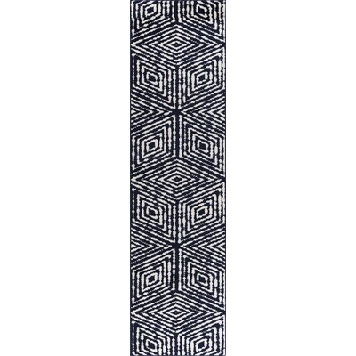 Navy Area Rug Rug Size: Runner 27 x 91