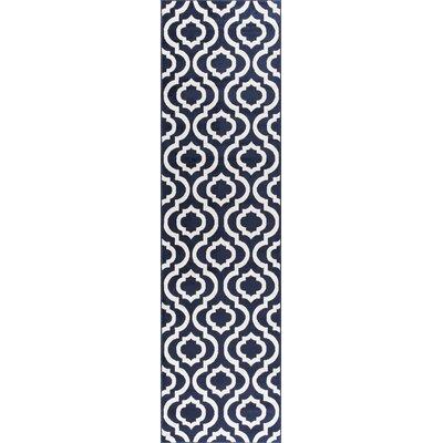 Buxton Navy Area Rug Rug Size: Runner 27 x 91
