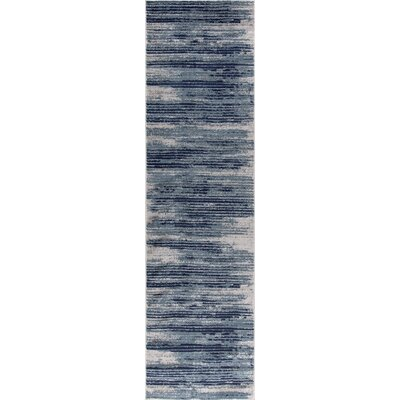 Chelsi Teal Area Rug Rug Size: Runner 27 x 91