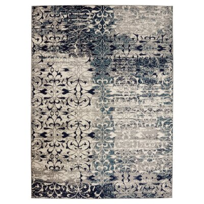 Urich Gray Area Rug Rug Size: Rectangle 67 W x 93 L