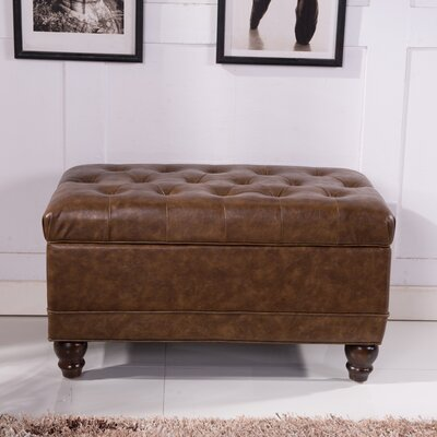 Elegant Classic Button Tufted Storage Ottoman