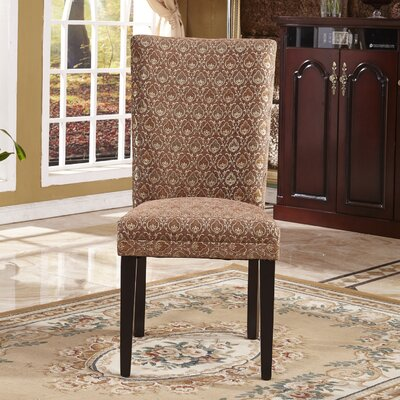 Elegant Damask Parsons Chair