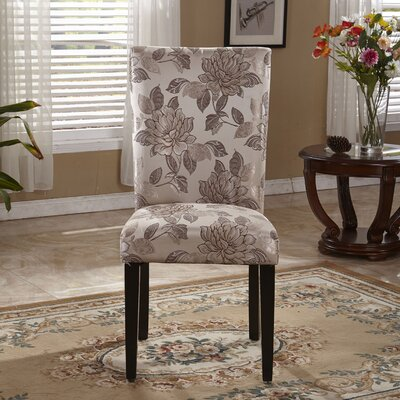 Elegant Floral Parsons Upholstered Dining Chair
