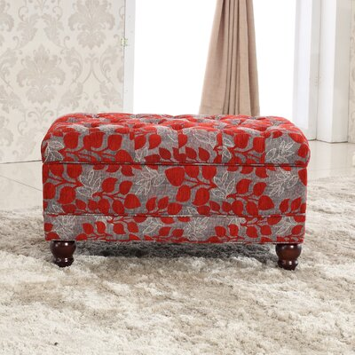 Classic Floral Tufted Storage Ottoman