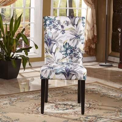 Elegant Floral Upholstered Dining Chair