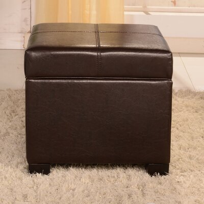 Royal Comfort Leather Storage Ottoman