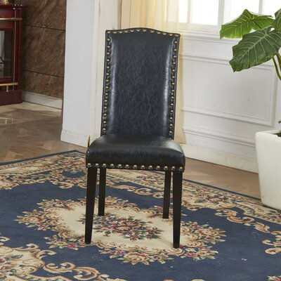 Elegant Parsons Chair Upholstery: Black
