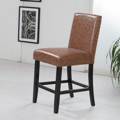 Luxury 29 Bar Stool Upholstery: Brown