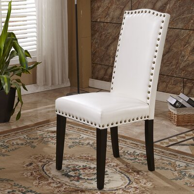 Elegant Parsons Chair Upholstery: White