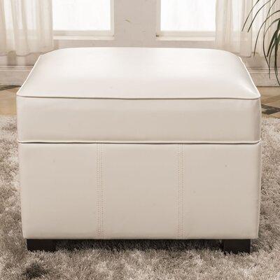 Elegant Storage Ottoman Upholstery: White