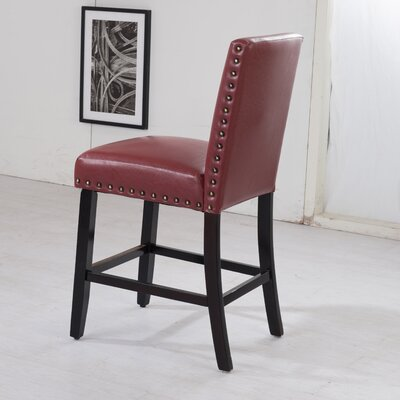 Luxury 29 Bar Stool Upholstery: Red