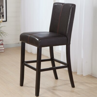 Luxury 29 Bar Stool Upholstery: Black