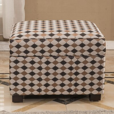 Plaid Storage Ottoman