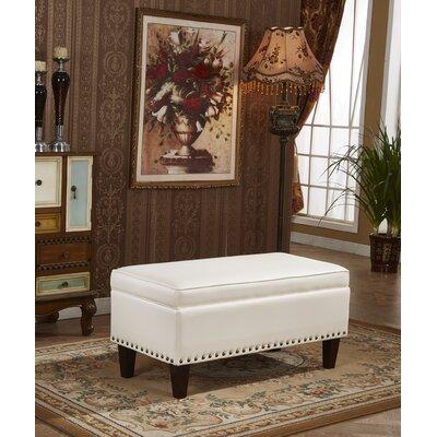 Charleston Premium Storage Ottoman Upholstery: Creamy White