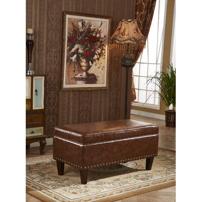 Charleston Premium Storage Ottoman Upholstery: Brown