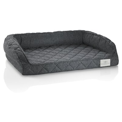 Orthopedic Gel Memory Foam Pet Bed Size: Medium (34 L x 24 W), Color: Raven