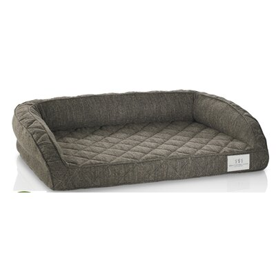 Orthopedic Gel Memory Foam Pet Bed Color: Mocha, Size: Small (22 L x 18 W)