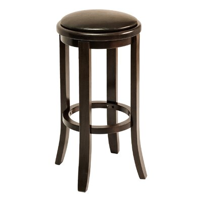 BB Series 30 Bar Stool Base Color: Walnut, Upholstery: Chocolate Chip