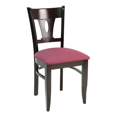 CON Series Side Chair Color: Dark Mahogany, Upholstery: American Beauty Red