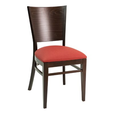 CON Series Side Chair Color: Cherry, Upholstery: American Beauty Red