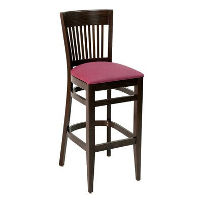 CON Series 30 Bar Stool Upholstery: Mahogany