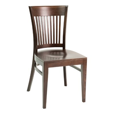 CON Series Side Chair Finish: Walnut, Upholstery: Ebony