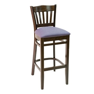CON Series 30 Bar Stool Base Color: Dark Mahogany, Upholstery: Ivory
