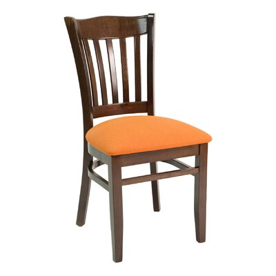 CON Series Side Chair Color: Mahogany, Upholstery: Ebony
