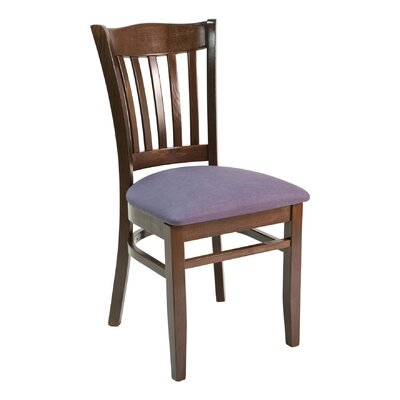CON Series Side Chair Finish: Dark Mahogany, Upholstery: Ivory