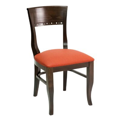 FLS Series Side Chair Upholstery: American Beauty Red, Finish: Dark Mahogany