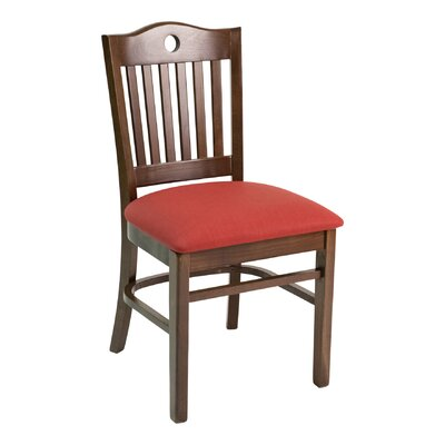 CON Series Side Chair Color: Mahogany, Upholstery: Ivory