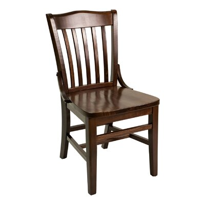 FLS Series Side Chair Base Finish: Dark Mahogany, Upholstery: Espresso