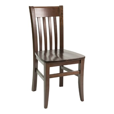 FLS Series Side Chair Finish: Walnut, Upholstery: Chocolate Chip