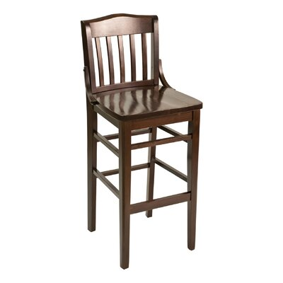 FLS Series Side Chair Base Color: Mahogany, Upholstery: Ebony