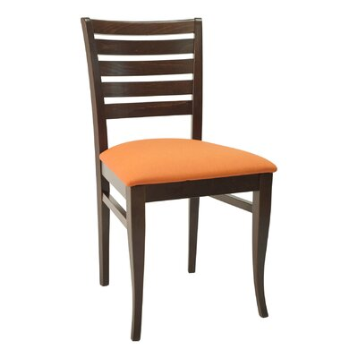 FLS Series Side Chair Color: Dark Mahogany, Upholstery: Ivory