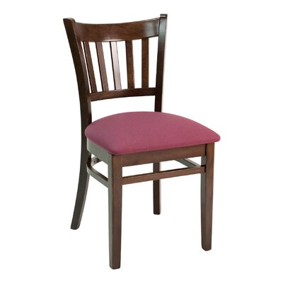 FLS Series Side Chair Color: Dark Mahogany, Upholstery: Ebony
