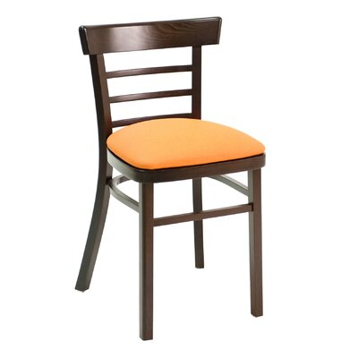 ECO Series Side Chair Color: Mahogany, Upholstery: Ebony