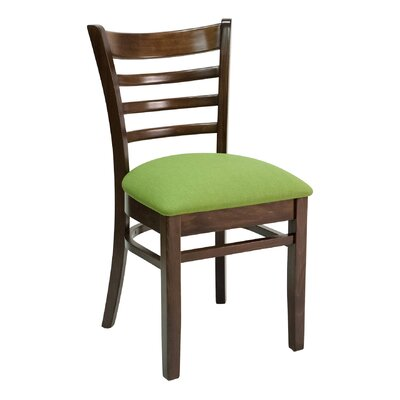 FLS Series Side Chair Color: Mahogany, Upholstery: Ebony