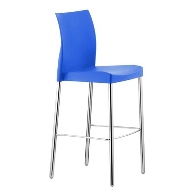 Florida Seating Pedrali Armless Stacking Chair - Seat Finish: Blue (Set of 2)