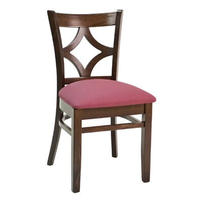 CON Series Side Chair Finish: Mahogany, Upholstery: Ebony