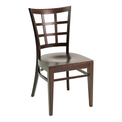 CON Series Side Chair Color: Dark Mahogany, Upholstery: Ivory