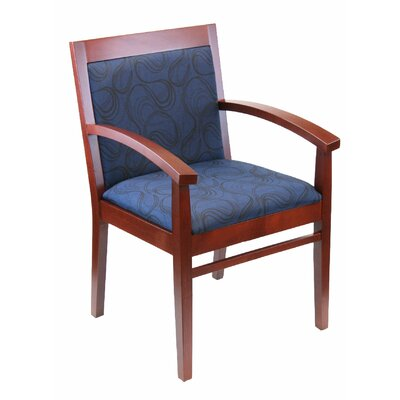 Tea Guest Chair Seat Color: Dark Blue, Color: Mahogany