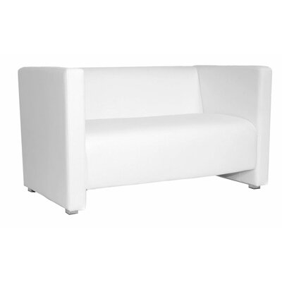 Zurich Chesterfield Loveseat Color: White