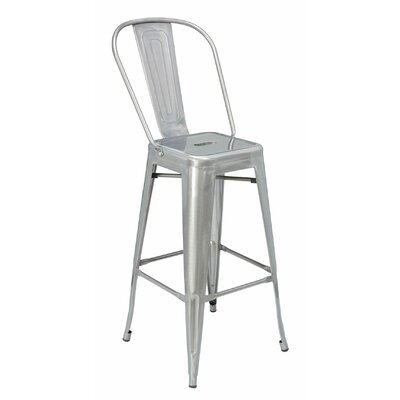 30 Bar Stool Finish: Galvanized