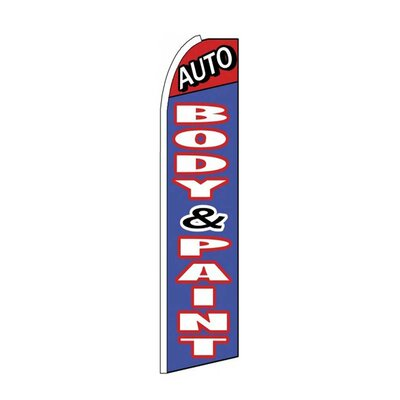 Auto Body & Paint Swooper Flag