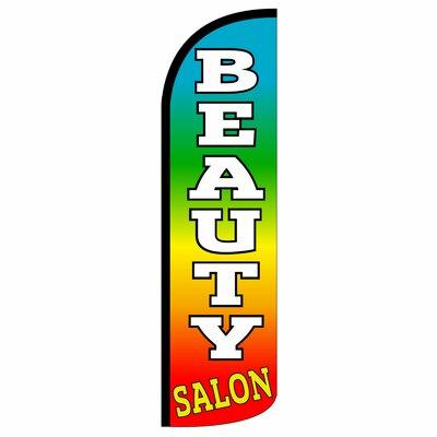 Beauty Salon 2-Sided Deluxe Swooper Flag