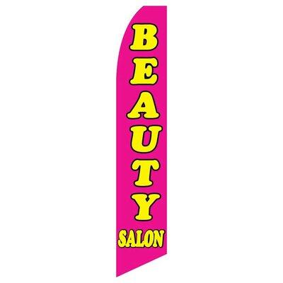 Beauty Salon 2-Sided Swooper Flag