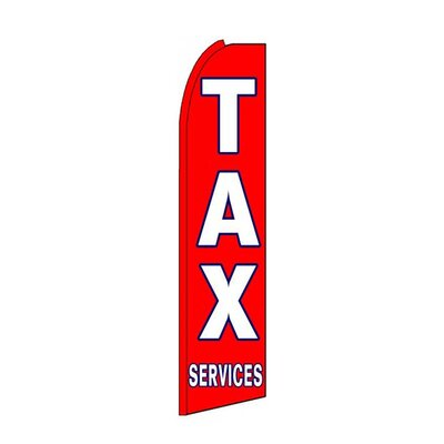 Tax Services Swooper Flag SW10299